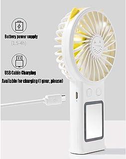 XIAOF-FEN Beauty Light Fan Three-Speed Leafless Portable Fan USB Mobile Phone Holder Mini Fan Three Colors Optional USB Fan Color : Pink