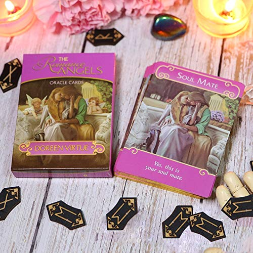 M-GLT 44 Vergoldete Das Engel der Liebe-Orakel Romance Angels Oracle Cards (Englisch mit Anleitung)