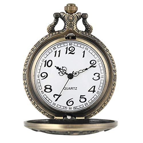 ZMKW Los Estados Unidos de América Espectacular 1877 Morgan Half Dollar Copy Reloj de Bolsillo de Cuarzo con Monedas de Bronce, Cadena de 30 cm