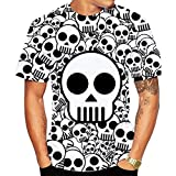 SSBZYES Camiseta para Hombre Camiseta De Verano De Manga Corta para Camiseta De Cuello Redondo para Hombre Camiseta con Estampado De Calavera Pullover Camiseta De Gran Tamaño para Hombre Camiseta