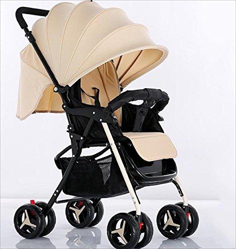 Strollers DD Babywagen Kinderwagen, Faltkinderwagen kann 1 Monat lang im Kinderwagen sitzen und schlafen - 4 Jahre Alter vierrädriger Wagen BabyWagen