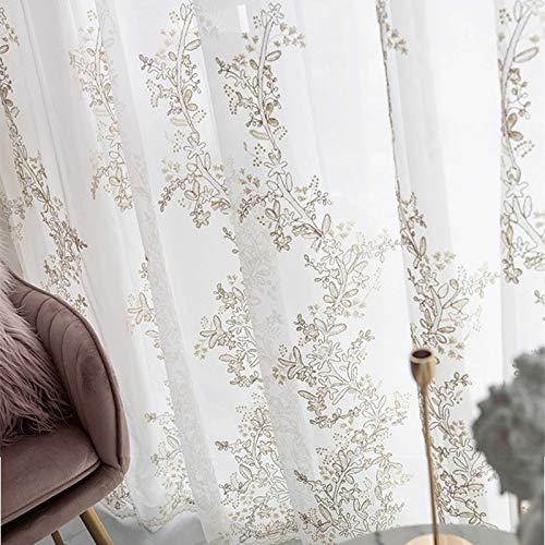 Luxegaren Geborduurde 3D Schermen Princess Tulle Gordijnen For De Slaapkamer Romantische Sheer Children's Room Raamdecoratie (Size : 250X270cm)