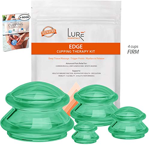 EDGE Cupping Therapy Sets - Silicone Vacuum Suction Cupping Cups – Muscle, Nerve, Joint Pain...