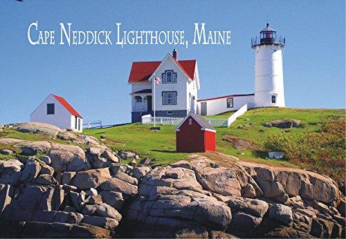 Cape Neddick Light, Lighthouse, Nubble Island, Maine, ME, Travel, Souvenir, Locker Magnet 2 x 3 Fridge Magnet