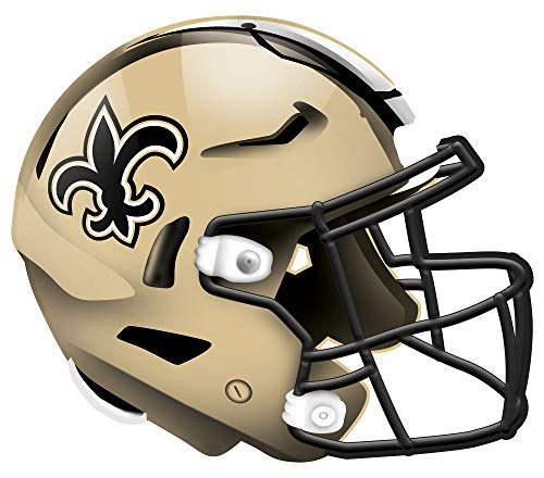 Fan Creations NFL New Orleans Saints Unisex New Orleans Saints Authentic Helmet, Team Color, 12 inch