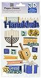 Paper House Productions STDM-0201E 3D Cardstock Stickers, Hanukkah (3-Pack)