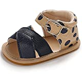 Baby Girls Boys Rubber Sole Summer Shoes,Non-Slip Outdoor Beach Infant Open Toe Sandals,NewBorn First Walkers Baby shoes (A01-Blue, 0-6 months)
