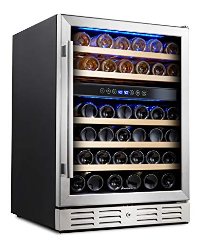 Kalamera 24'' Wine refrigerator 46 Bottle Dual Zone Built-in or Freestanding...