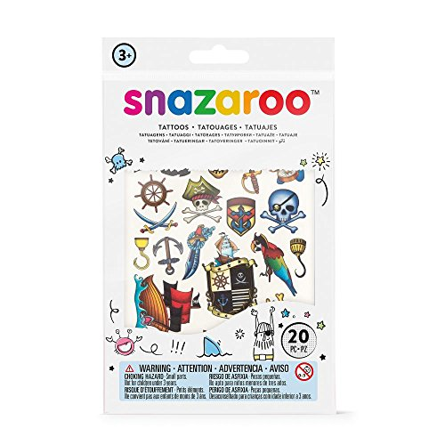 Snazaroo - Set de tatuajes temporales, aventuras , color/modelo surtido