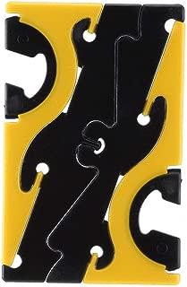 Iphone 6プラス5 s電話ホルダーエッジスタンドサポートアクセサリー(ブラックイエロー)のミニカード電話ホルダー調整可能な電話Monut