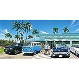 ハワイアン雑貨 インテリア キャンバス パネル絵 (HALEIWA TOWN/ハレイワタウン) ハワイ雑貨 お土産