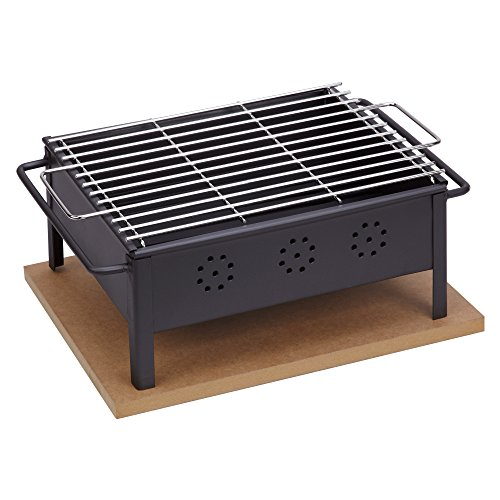 Sauvic 02906 Barbacoa SOBREMESA 30X25 con Parrilla Inoxidable