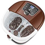 Foot Spa Bath Massager with Heat Bubbles, Tai Chi Massage Rollers, Time & Temperature Settings, Digital panel, Large Size for Soaking Feet, Salt & Tea Tree Oil Available/Tired Feet Stress Relief