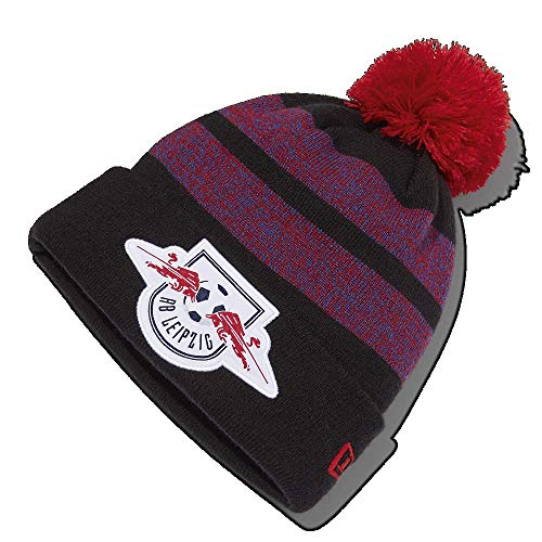 RB Leipzig New Era Energy Pom Pom Beanie, Schwarz Youth One Size Beanie, RasenBallsport Leipzig Sponsored by Red Bull Original Bekleidung & Merchandise