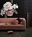 Murwall Rose Floral Wall Decal Pink Flower Wall Sticker Florals Bouqet Peel n Stick for Livingroom Bedroom