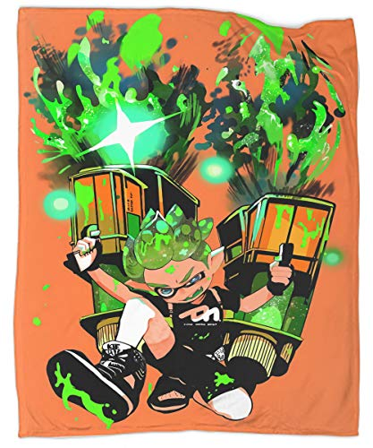 Splatoon 2 Blanket Modern Decor Sofa Ultra Luxurious Warm and Cozy for All Seasons 50x70 Inch