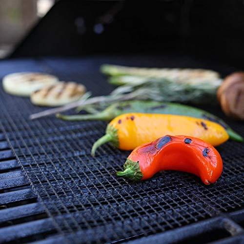 51tUntFaSLL - DFSDG Nicht-Stick-Gitter-Form BBQ-Matte Kochen Grillblech-Liner-Fisch-Gemüse-Raucher-Grillmatten Grillzubehör Werkzeuge (Size : 36x42x0.085CM)