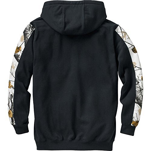 Legendary Whitetails Mens Big Game Snow Camo Outfitter Hoodie (Frost White, Large)