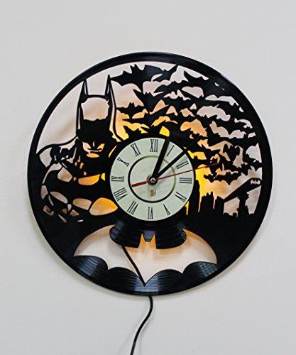 Luz nocturna, luz LED, lámpara de pared, batman arkham knight reloj de pared, fría habitación decoración de pared