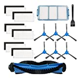Replacement Parts Accessories Kit Compatible with RoboVac 11S, RoboVac 30, RoboVac 30C, RoboVac 15C Robotic Vacuum Cleaner - 14 Pack (1 Rolling Brush, 6 Filters, 6 Side Brushes,1 Primary Filter)