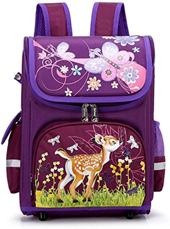 LFSHUB Falten Cartoon Schulruckscke Für Jungen Mdchen Auto Kitz Muster Schultaschen Kinder Orthopdische Rucksack Schulranzen Kinder Rucksack