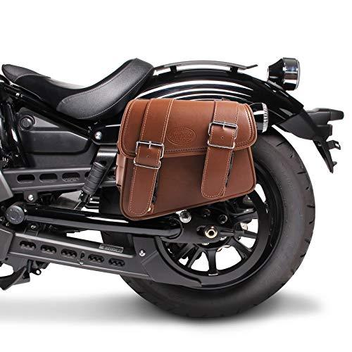 Borsa laterale 8L Compatibile con Ducati Scrambler Flat Track Pro marrone sinistra