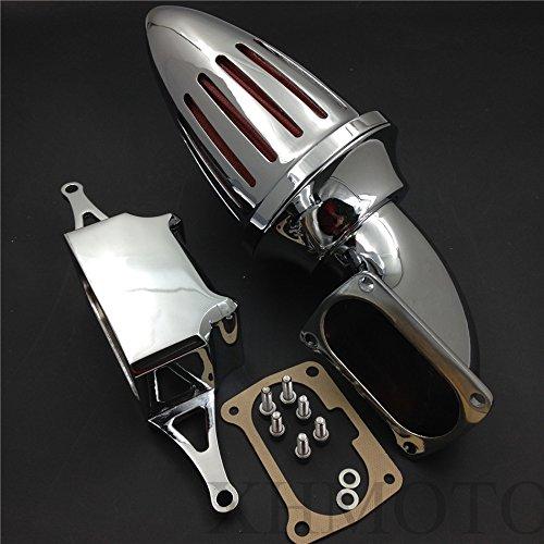 Bullet Air Cleaner Kits pour 2002–2010 Yamaha Roadstar Midnight Warrior Chrome
