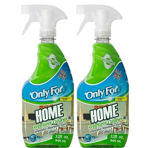 Limpiador de pisos y hogar con repelente para insectos Only For 1.8L - 2 Pack Ideal para pisos y superficies con Citronela que ahuyenta mosquitos, cucarachas, moscas y hormigas sin dejar un mal olor.