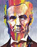 Abraham Lincoln Poster Card by Stephen Fishwick 11 x 14in