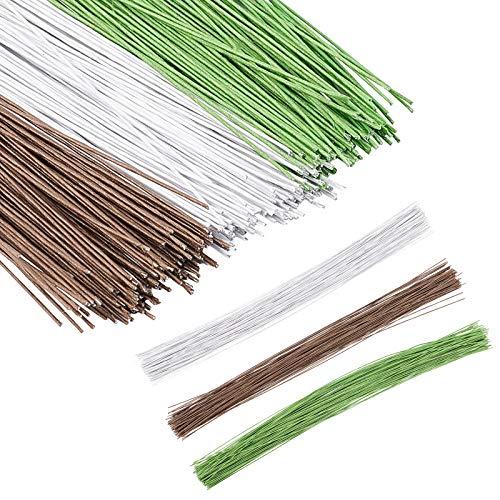 PandaHall 360pcs 3 Colori Filo Stelo Floreale Fatto a Mano Bouquet Stelo Lavorazione Filo Floreale, Stelo Tronco pianta Artificiale per composizioni Floreali