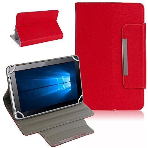 Nauci Tablet Schutz Tasche Hülle für ARCHOS 101b Xenon Hülle Cover Universal Bag, Farben:Rot