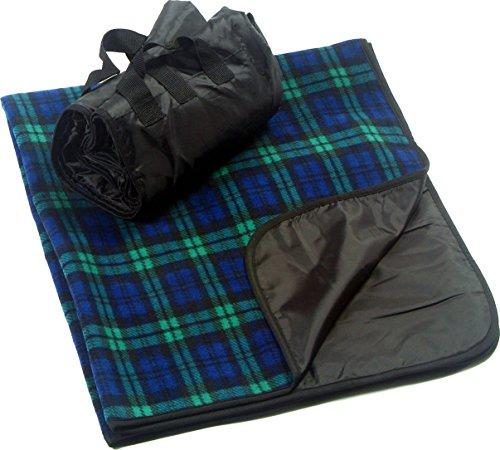 "CozyCoverz Outdoor Rainproof & Windproof Stadium Blanket/Picnic Blanket 50"" x 60"" (Blackwatch Plaid)"