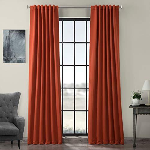 HPD Half Price Drapes BOCH-171125-96 Blackout Room Darkening Curtain (1 Panel), 50 X 96, Navajo Rust