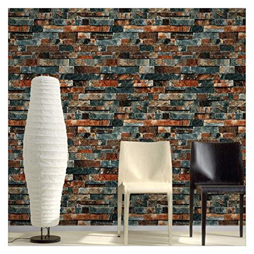 WENYOG Papel De Pared Patrón de ladrillo 3D Papel Pintado Antiguo PVC salón Comedor Sala de Vinilo Etiqueta de la Pared Tienda de Ropa decoración Mural del ladrillo Papel De Pared Decorativo