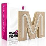 Letras de Neon con madera  Sin cables   Madera de 2,5 cm de grosor   Letras para cualquier evento o decoración de casa   (M)