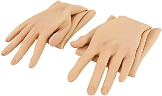 Ajusen Crossdresser Silicone Hand Gloves with Nail Realistic Female Skin Full Length Arm for Transgenders Dragqueen