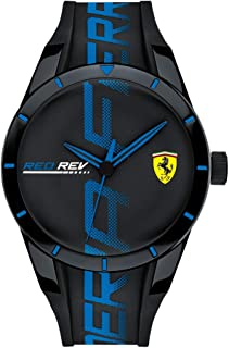Men's RedRev Quartz Plastic and Silicone Strap Casual Watch, Color: Black (Model: 830616)
