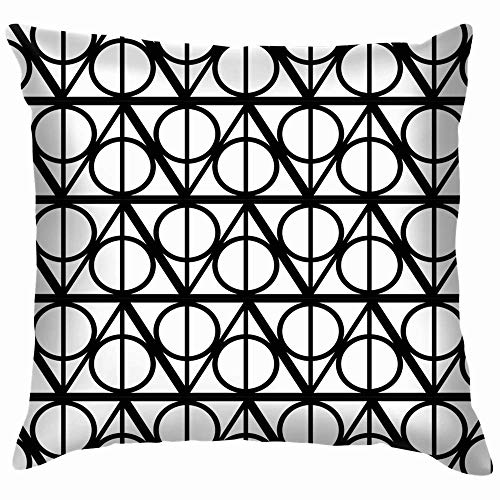 Hangdachang Black White Monochrome Geometric Harry Beauty Fashion Throw Pillows Covers Accent Home Sofa Cushion Cover Pillowcase Gift Decorative 18x18 inch|Multi