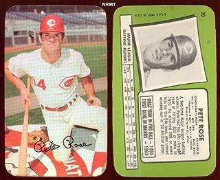 1971 Topps Super (Baseball) Card# 20 Pete Rose of the Cincinnati Reds NrMt Condition