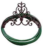 Esschert Design Schlauchhalter, Gartenschlauchhalterung aus Gusseisen, ca. 39 cm x 24 cm x 26 cm