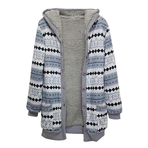 Longra dames winterjas, warm, motief retro, met capuchon, velours, dik, mantel