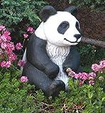 Pandabär sitzend (S203012) Gartendeko Tierfiguren Steinguss Steinfigur 31 cm