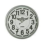 Versa 21110056 Reloj de pared Kensington, Ø50cm diámetro, Vintage, Metal