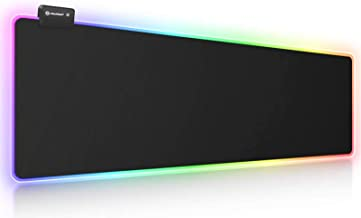 RGB Gaming Mouse Pad, UtechSmart Large Extended Soft Led Mouse Pad with 14 Lighting Modes 2 Brightness Levels, Computer Ke...
