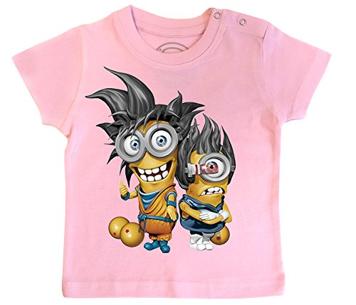 PIXEL EVOLUTION Camiseta de bebé Minions Super Saiyan tamaño 24 Meses - Rosa
