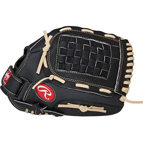 RAWLINGS PM105BCB - Guante de béisbol para Zurdos (10,5'), Color Negro