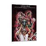 ASDLK Ac Mailand Poster, dekoratives Gemälde, Leinwand,