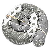 cojin serpiente patchwork - protector cuna chichonera cojin bebe cuna parachoques cuna Patrón de cielo, 210 cm