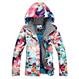 レディース 断熱 防水 スキー&スノーボードジャケット 明るい色 防風 スノーコート US サイズ: Small カラー: ブルー
