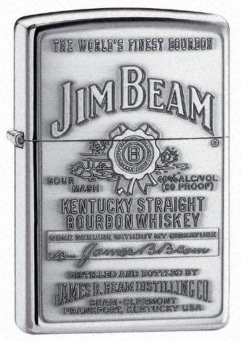 Zinn Jim Beam Label Zippo Feuerzeug